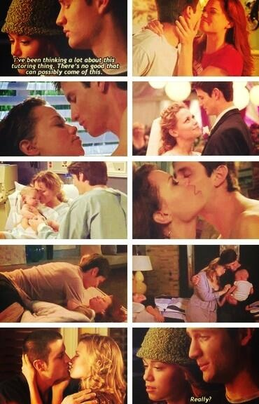 Haley and Nathan through all the seasons