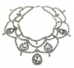 Handmade swarovski crystal and rhodium plated BIB necklace, stunning for brides wedding or formal occaisions