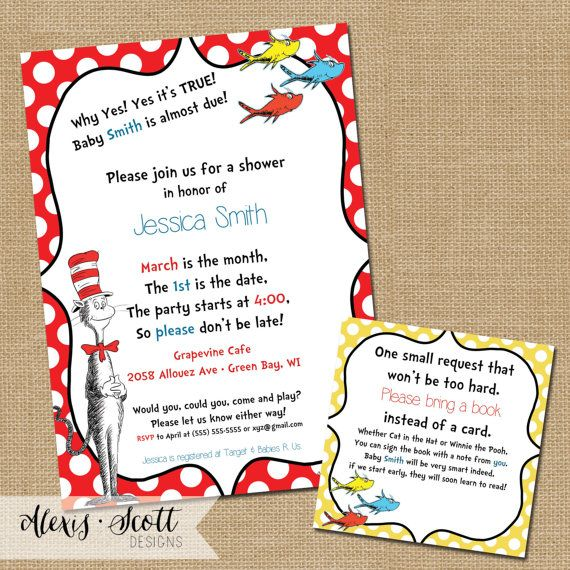 Hey, I found this really awesome Etsy listing at https://www.etsy.com/listing/124306259/dr-suess-baby-shower-invitations-5x7