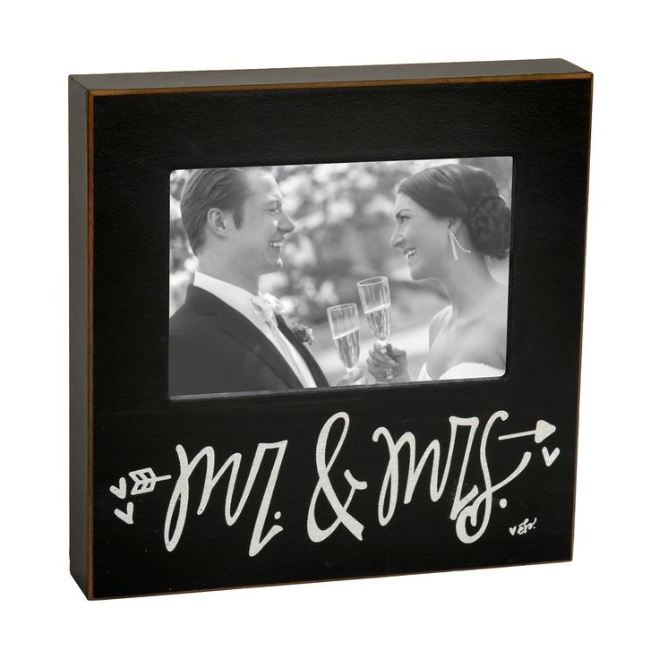 Black Mr. & Mrs. Picture Frame, 4x6 | Kirklands