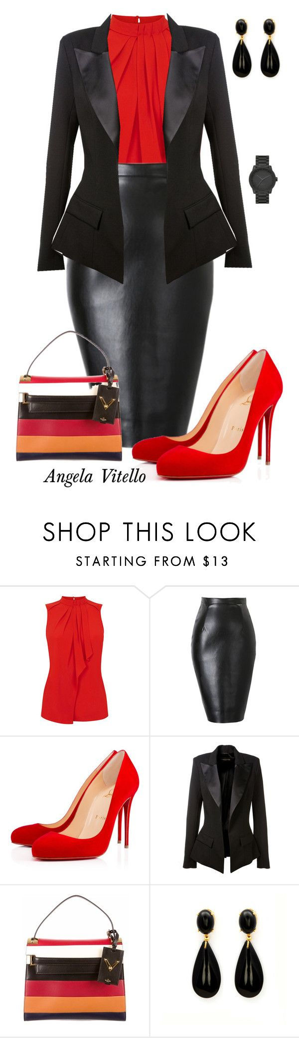 """""""Untitled #627"""" by angela-vitello on Polyvore featuring Oasis, Christian Louboutin, Alexandre Vauthier, Valentino and LEFF Amsterdam"""