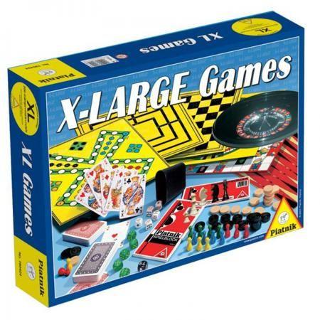 Piatnik «XL+шахматы и рулетка»  — 2430 руб.  —  Игра настольная Piatnik XL шахматы и рулетка набор, который порадует вас веселыми и разнообразными играми. Набор отличается разнообразием возможностей. В него входят: шахматы, фишки, различные игровые поля, кубики, рулетка и инструкция для двухсот игр. Игры позволят развить логику и математическое мышление.