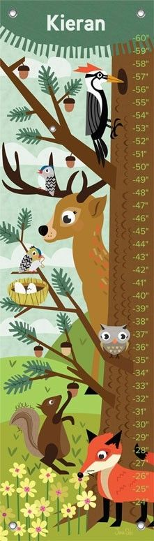Woodland Creatures Growth Chart
