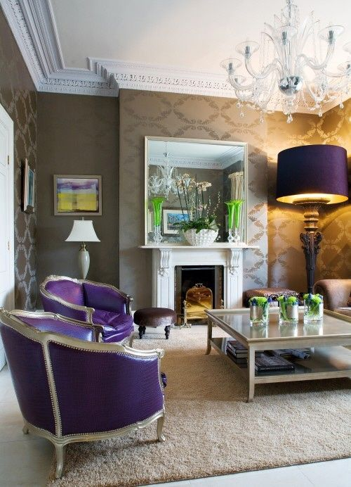 Love the purple and grey, especially the FAB chairs!