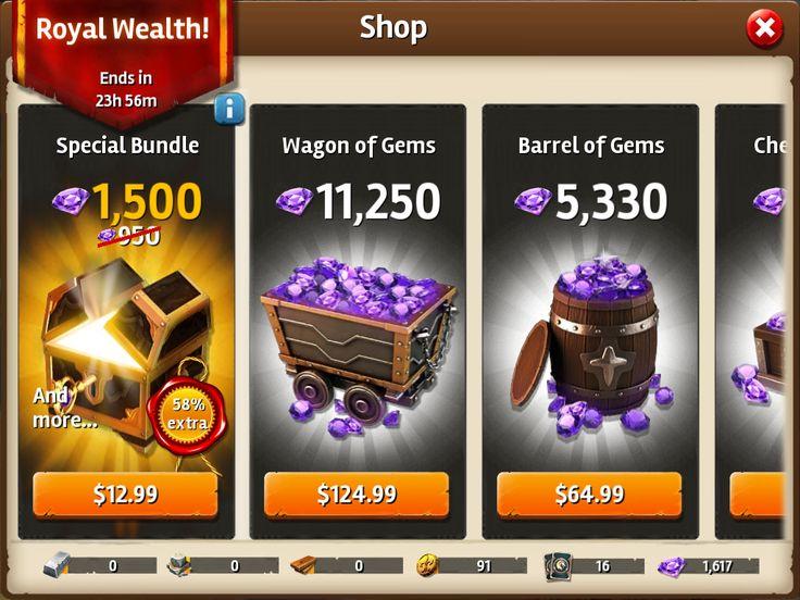 Siegefall | IAP | Gem Shop | Promo | UI HUD User Interface Game Art GUI iOS Apps Games | Gameloft | www.girlvsgui.com