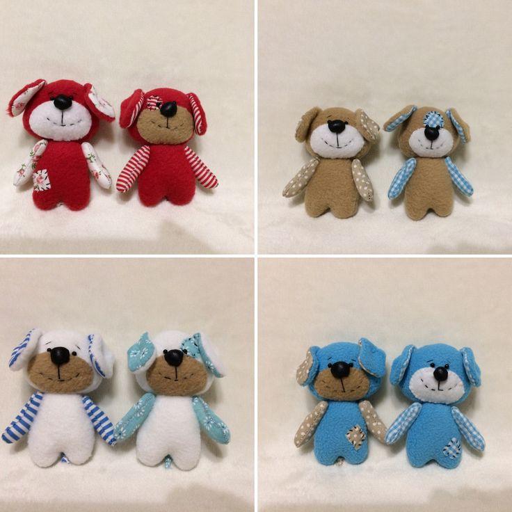 #Little dogs #TEXTILE TOYS # PRIMITS# Toy puppy