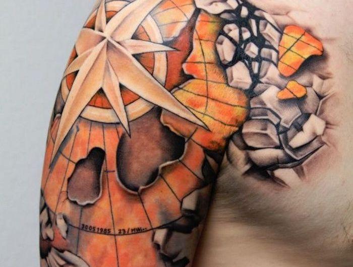 Tatuajes de brújulas y su significado – Fotos con los mejores diseños – Keana Lester
