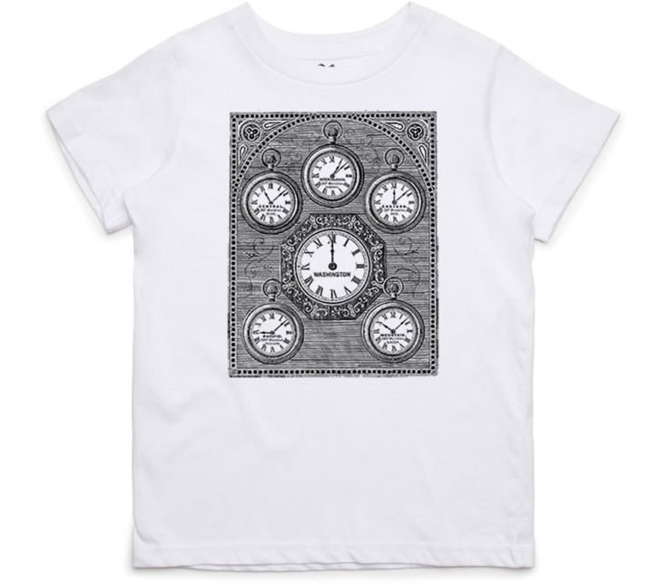 El Cheapo Antique International Clock Toddler White T-Shirt