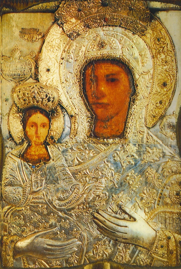 The icon of the Panagia Spiliani on the Greek island of Samos.