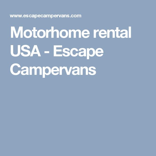 Motorhome rental USA - Escape Campervans