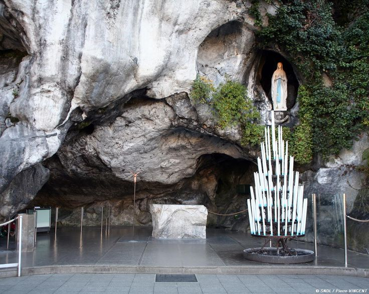 The Grotto in Lourdes France.  Truly a wonderful and spiritual place to visit.  Lourdes, France is a beautiful, wondrous little town best known for the famous grotto where the Virgin Mary is said to have appeared to St. Bernadette 18 times in 1858