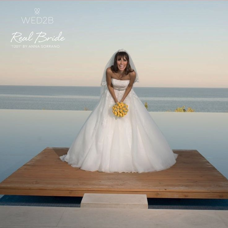 A beautiful real bride Luana, looks absolutely stunning in '1201' by Anna Sorrano 💕 Could this be 'the one' for you? 💕 Please share your photos with us by emailing info@wed2b.co.uk 💕