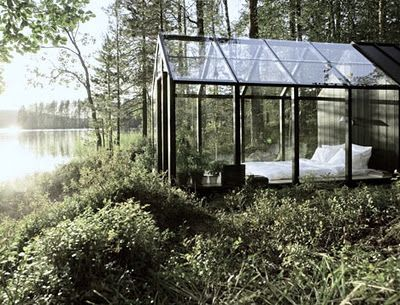 Linda Bergroth's glass roomBeds, Dreams, Greenhouses, Places, Green House, Bedrooms, Glasses House, Glasshouse, Gardens Sheds