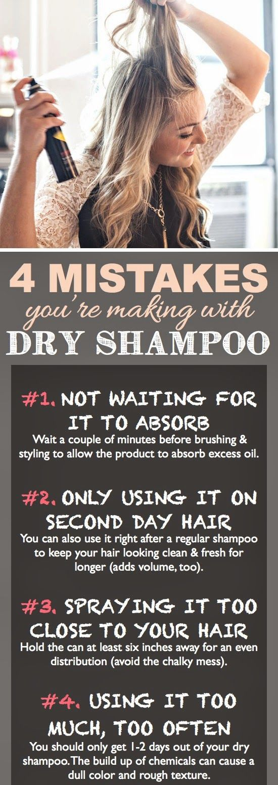 Misuse of Dry Shampoo