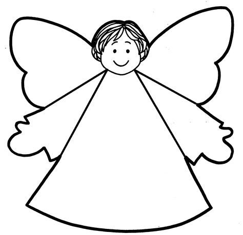 Best Photos of Paper Cut Out Angel - Angel Cut Out Template, DIY