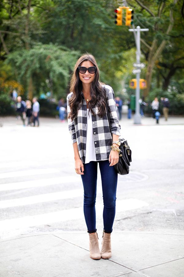 Blue Jean Baby With Love From Kat Buffalo Plaid