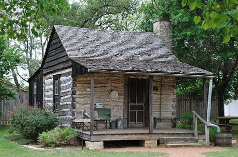 Fredericksburg, TX — Logs, Limestone and Fachwerk The way log cabins use to be