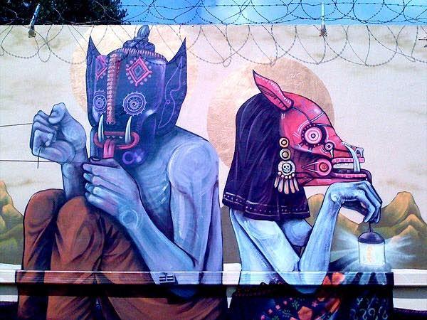 Street art by Saner