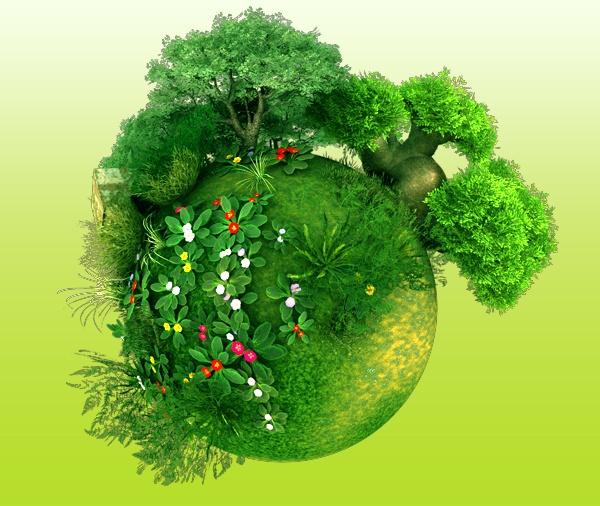 Planet Green - #3D, #green