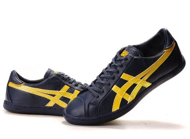 Asics Onitsuka Tiger Seck Lo Navy Blue Yellow Shoes