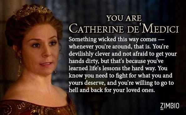 I took Zimbio's 'Reign' quiz and I'm Catherine de' Medici! Who are you? #ZimbioQuiz