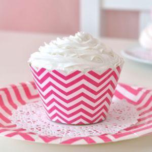 Greenmunch - Cupcake Wrappers - Chevron Hot Pink, $7.50 (http://www.greenmunch.ca/paper-dinnerware/cupcake-wrappers/cupcake-wrappers-chevron-hot-pink/)