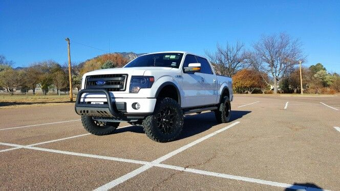My 2013 F150 FX4, 6 inch ProComp lift, 35 inch Toyo M/T Open Country tires, 20 inch LRG wheels, Aries 3 inch bull bar.