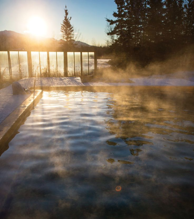 Start your day in Whitehorse with a soothing dunk at the alfresco Takhini Hot Springs; the super-relaxing 40C waters are full of healing magnesium and calcium. Once you've dried off, head on over to the Yukon Wildlife Preserve for some face time with mountain goats and wood bison. #Yukon