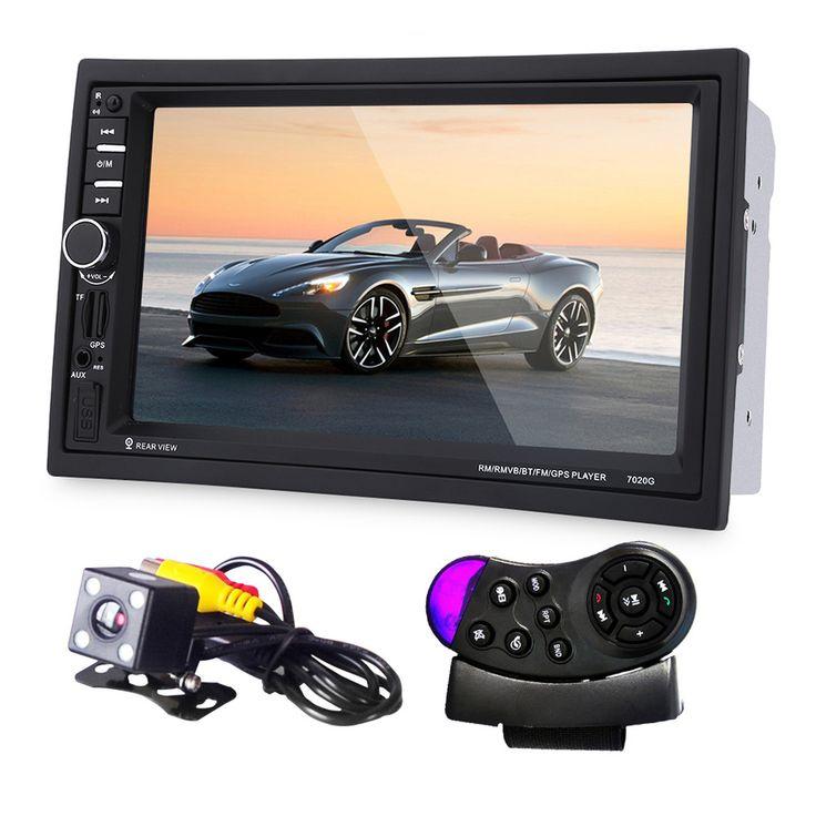 7 بوصة سيارة mp5 لاعب مع ملاحة gps شاشة اللمس + كاميرا الرؤية الخلفية + عجلة القيادة للتحكم راديو السيارة مشغل dvd