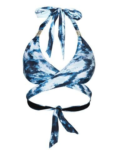 'Paeonia' curve bikini top in 'Waterfall'