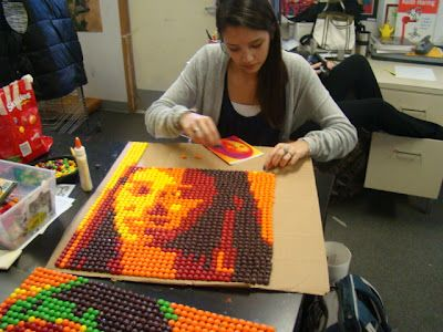 . Art of Apex High School: Skittle Art Almost Done