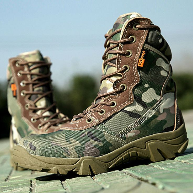 Outdoor Womens Camo Military Casual Lace Up Canvas Shoes Athletic Combat Fashion