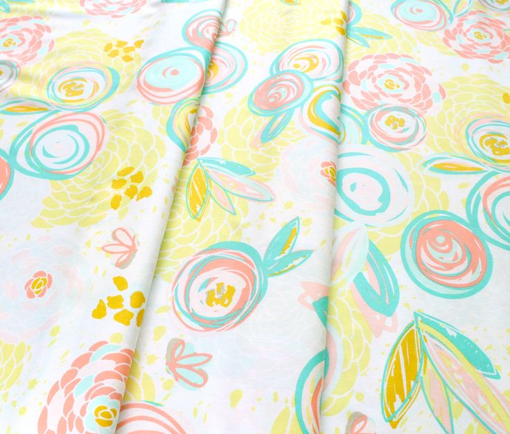 Art Gallery Fabrics Reverie Fusion Sprayed Blooms Reverie