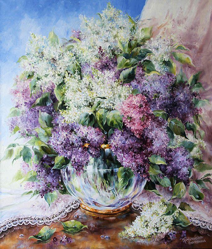 Картины - Цветы - Очарование весны (Холст, масло)