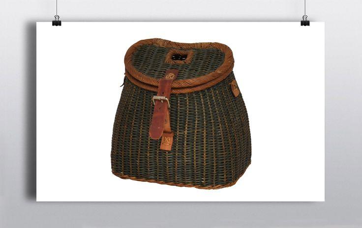 Green Wicker Fishing Basket http://www.prophouse.ie/portfolio/wicker-fishing-basket/