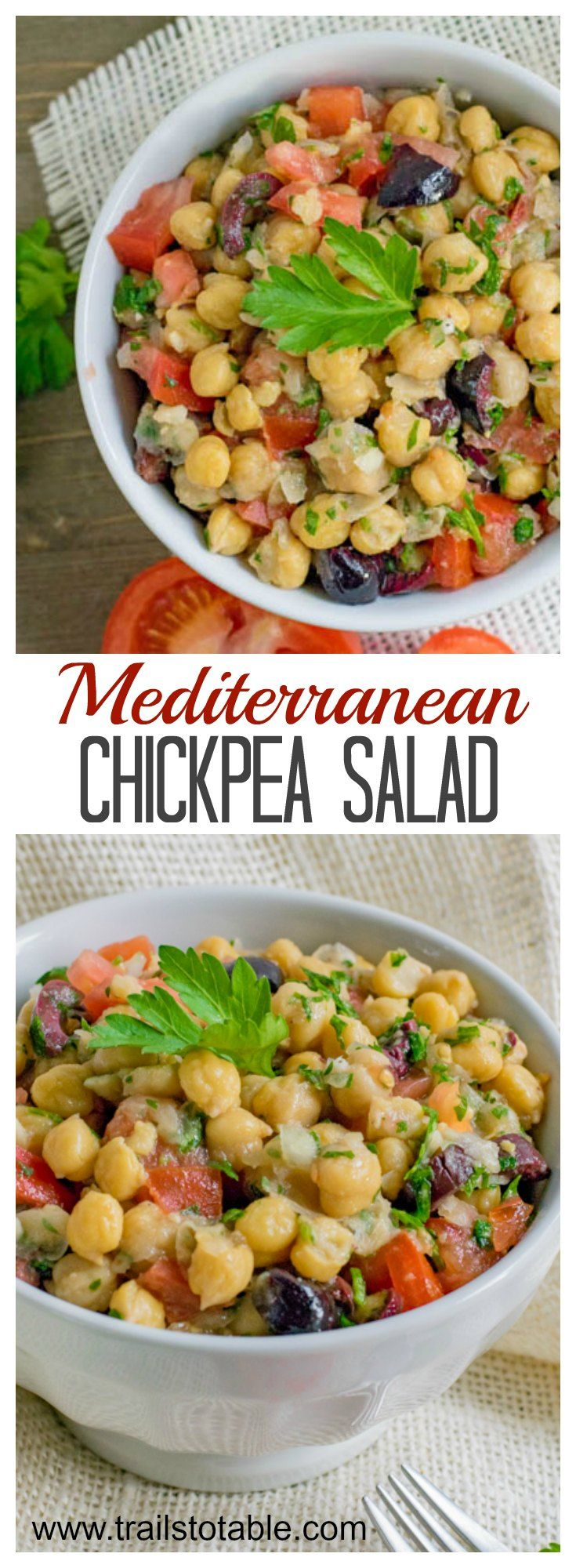 Chickpea Salad. Easy, healthy, and delicious!
