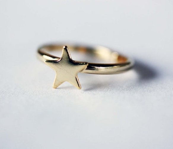 So cute and simple! Love this tiny Gold Star Ring.