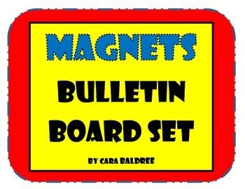 Thanks for purchasing this magnetism bulletin board set.  This is a color-coded bulletin board set.  Sheets with a red background are vocabulary words, temporary magnet sheets have a green background, natural magnet sheets have a purple background, and permanent magnet sheets have a yellow background.