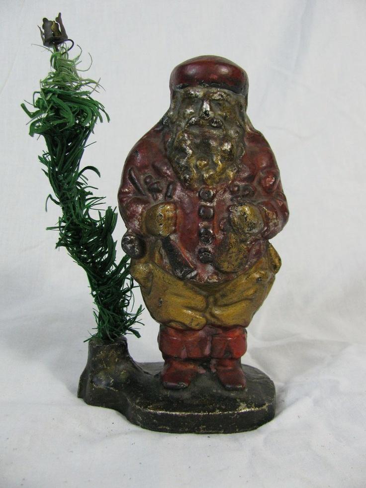 Santa Claus Cast Iron Bank 1890 Vintage Christmas Decorations Vintage Christmas Ornaments