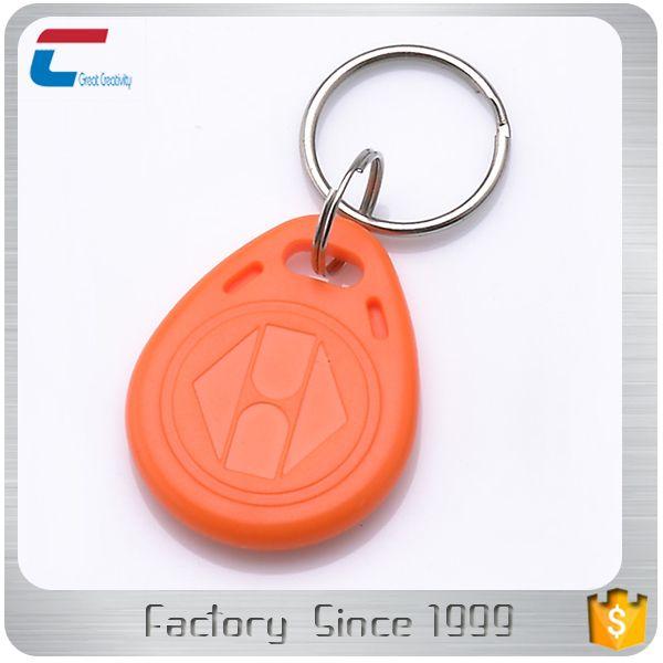 125 KHZ TK4100 RFID keychain / rfid keyfob ABS material for Access control