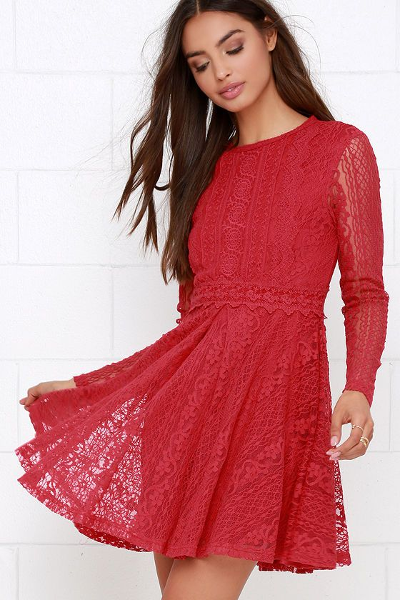 1000 ideas about red lace dresses on pinterest wedding for Red midi dress wedding guest