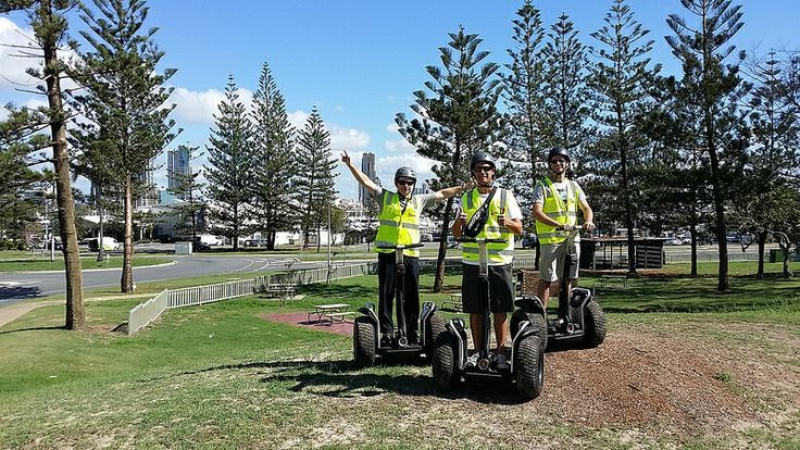 Seaworld Nara Resort crew overlooking the Southport Yacht Club from Main Beach with Segway Eco Xperiences