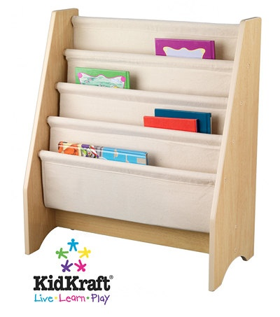 4-Pouch Sling Bookshelf in Natural