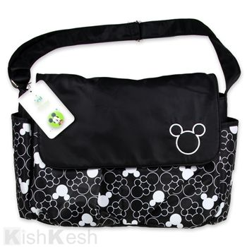 Mickey Mouse Silhouette All Over Print Diaper Bag Disney