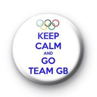 Keep Calm and Go Team GB Badge Button badge £0.85