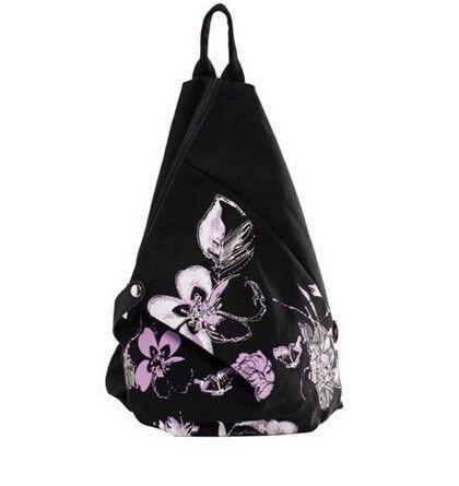Elegant Vintage Floral Print Canvas Cotton Shoulder Backpack 6 Colors