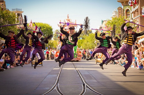 Chimney sweepers in Disneyland. They were some of my favorites in the parade. C:  - Mary Poppins