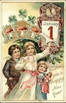 Felicitări de Anul Nou, din trecut