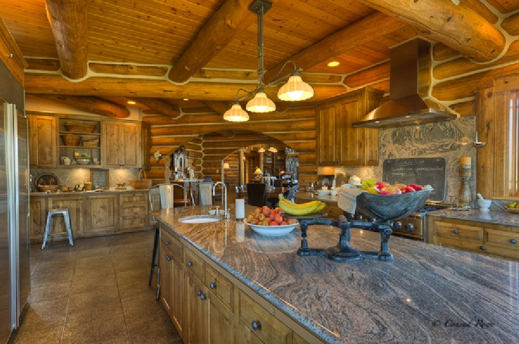 29 best images about cabin fever on pinterest land 39 s end for Log cabin kitchen countertops