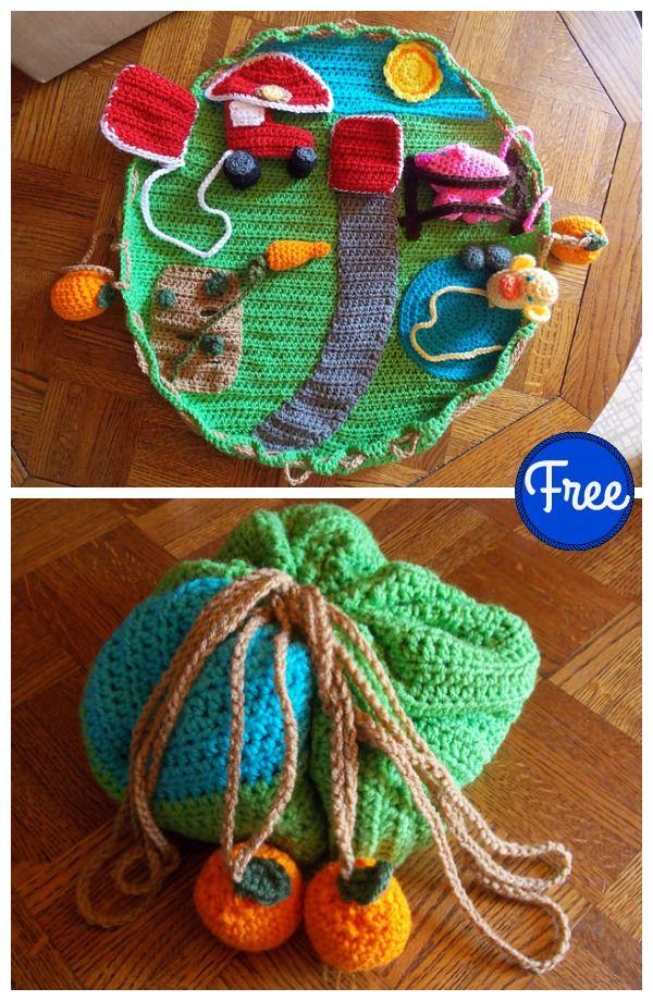 Down On The Farm Playmat Free Crochet Pattern Free